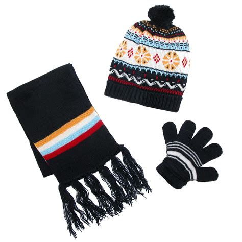 knitting pattern for hat scarf and gloves kids knit winter pattern hat scarf and gloves on a string