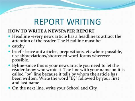 how to write a news paper article writing skills secondary school