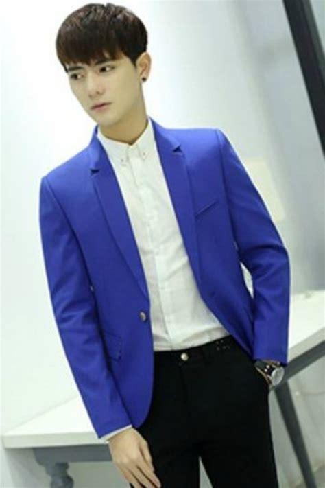 Jas Blazer Pria Korea Jaket Pria Korea Blue Blazer Jyd385602blue Coat