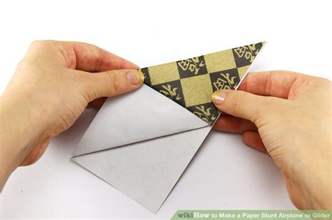 How To Make A Glider Paper Airplane Step By Step - how to make a paper stunt airplane or glider 15 steps