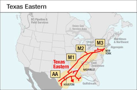 texas eastern transmission map link informational postings