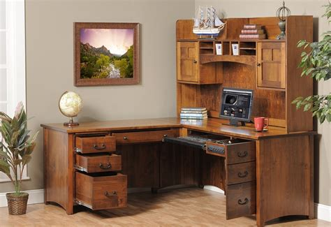 brown corner desk brown corner wood desk with shelves and drawers the best