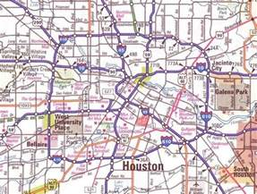 map of cities near houston large map of houston