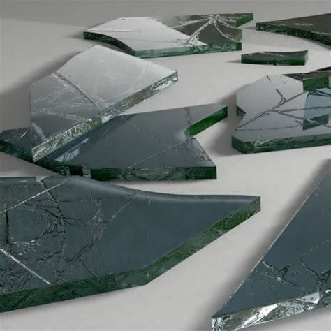 Glass Pieces 3d model broken glass pieces