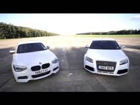 bmw m135i v audi rs3 road track drag race chris