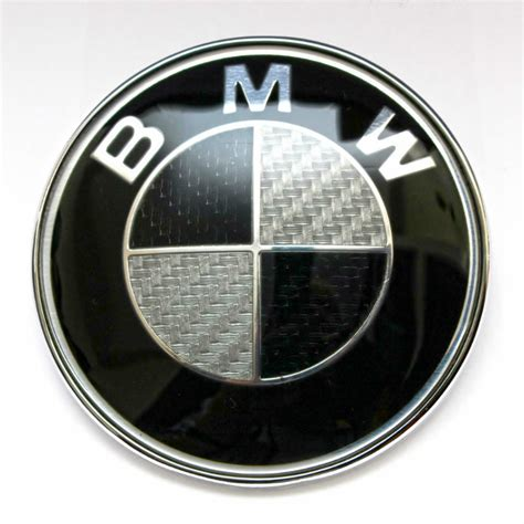 Bmw Perfect Sticker by Bmw Black White Carbon Fibre Logo 45mm Steering Wheel