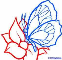 How to draw a butterfly on a flower butterfly and flower step 6 1