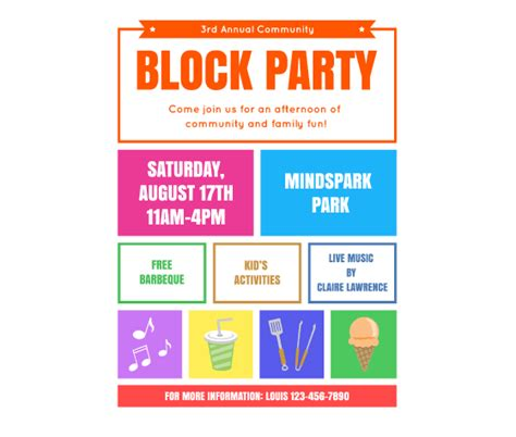 Block Template Flyer this block flyer template and other free