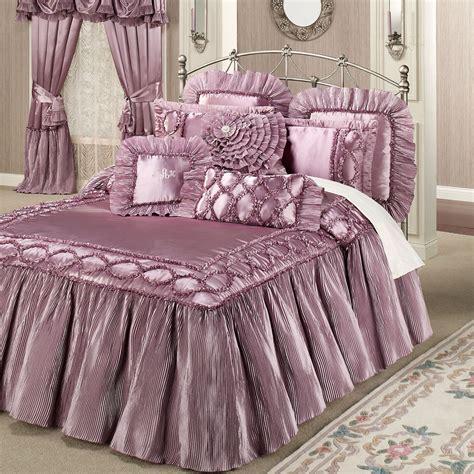 oversized beds marquis orchid haze ruffled flounce oversized bedspread