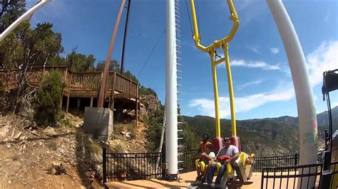 glenwood springs swing ride giant canyon swing glenwood springs adventure park youtube