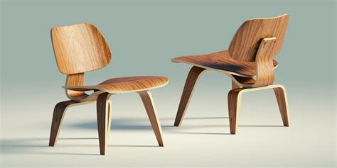 Eames lounge chair wood lcw 3d model game ready obj blend cgtrader com