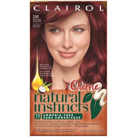 8 best images of clairol permanent hair color chart and also blowout hair braids afwf co clairol clairol instincts semi permanent hair color 23r rich medium auburn 1 kit