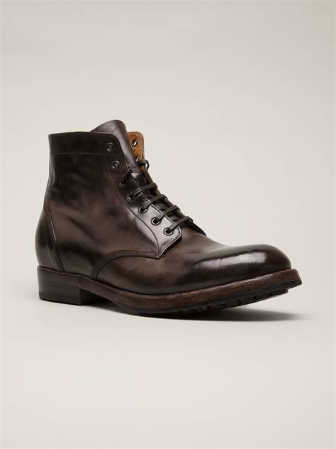officine creative mens boots lyst officine creative lowry boots in brown for