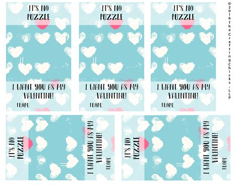 valentines puzzle it s no puzzle valentines printables the crafting