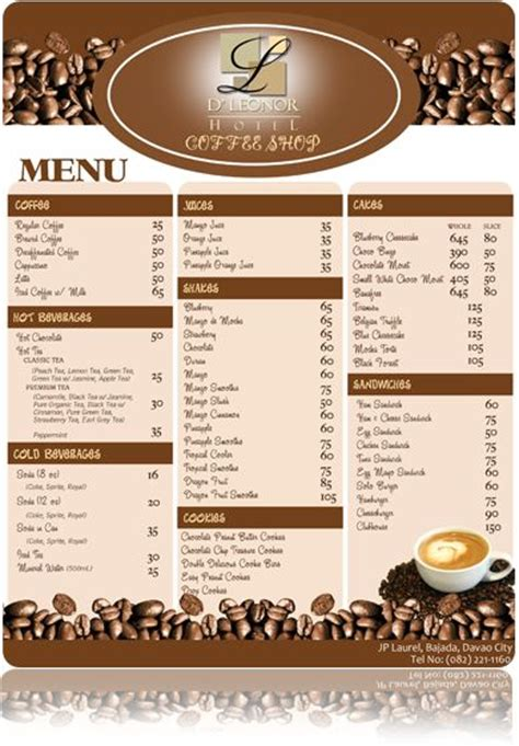 design coffee shop menu layout coffee shop menu graphic design pinterest