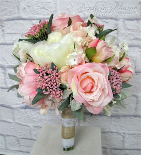 Pink Flowers Wedding by Pink Peony Wedding Bouquet In Bloom