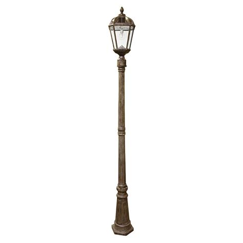 led l post light gama sonic royal series single weathered bronze