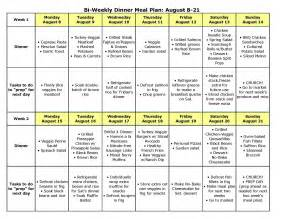 bi weekly dinner meal plan for august 8 21 the better mom