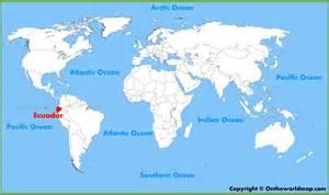 ecuador location on the world map