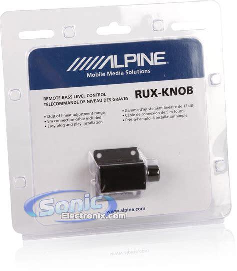 Alpine Bass Knob by Alpine Rux Knob Remote Bass Level W 16 5 Ft