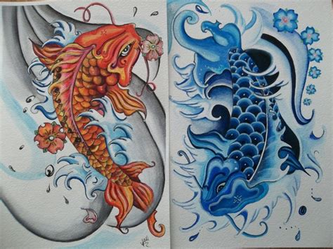 ying yang in koi fish style dejavu tattoo studio ying yang koi fish tattoo design 2 tattoos book 65 000