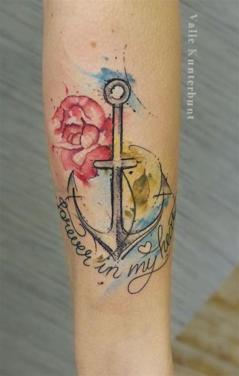 watercolor tattoo nz anchor watercolor s