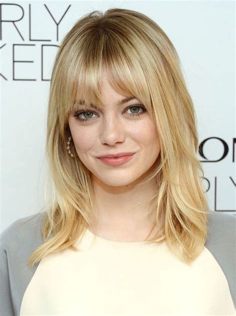 shoulder length haircuts with bangs shoulder length hairstyles with bangs hairstylegalleries com