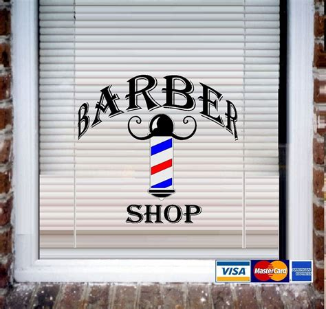 Car Wall Mural barber shop wall decal or store front window decal ebay
