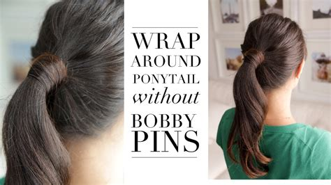 tricks to get the hairstyle you want in acnl hair trick wrap around ponytail without bobby pins youtube