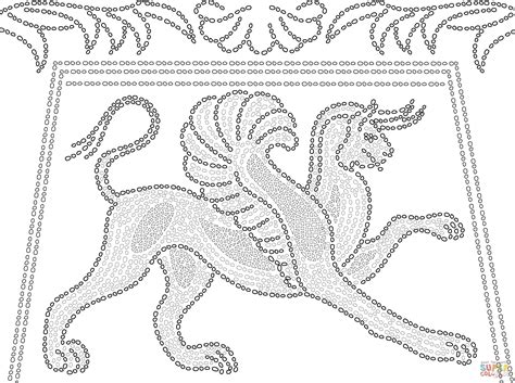 ancient greek mosaic depicting griffin coloring page