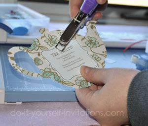 diy tea party invitations cute  crafty tea pots