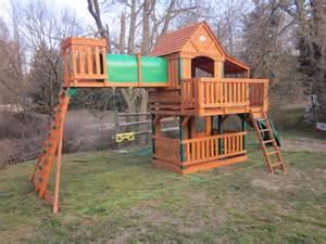 Backyard Treehouse For Kids - leisure time products woodridge mahwah nj 07430
