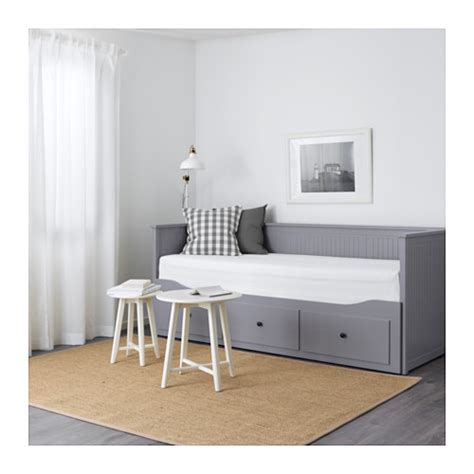 hemnes day bed w 3 drawers 2 mattresses grey malfors firm hemnes day bed w 3 drawers 2 mattresses grey moshult firm