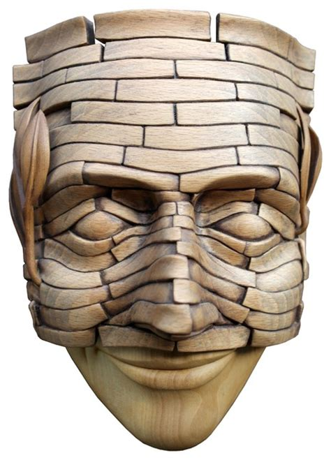 modern sculpture home decor mask modern wood carved bust sculpture home decor
