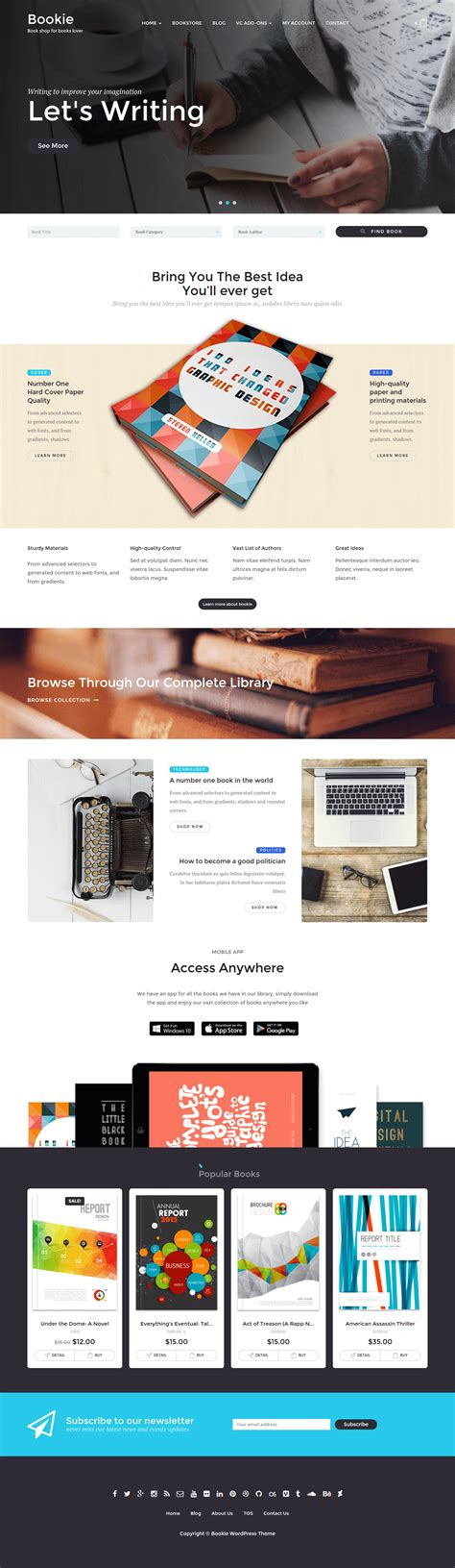 wordpress templates for books bookie wordpress theme for books store by tokopress