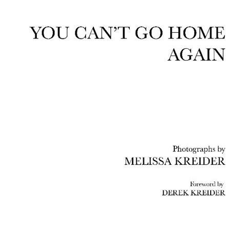 you can t go home again by kreider arts