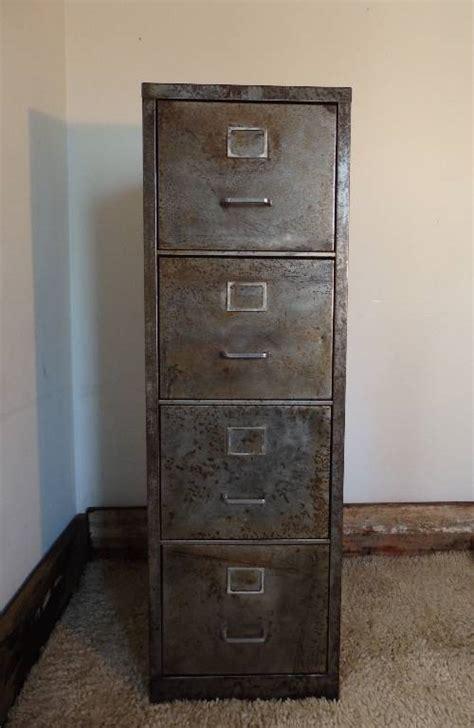 armoire ferraille meuble classeur m 233 tal bross 233 4 tiroirs 233 es 1950