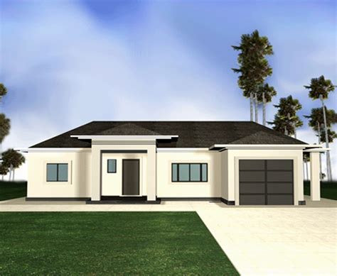 house modern design simple map view of property
