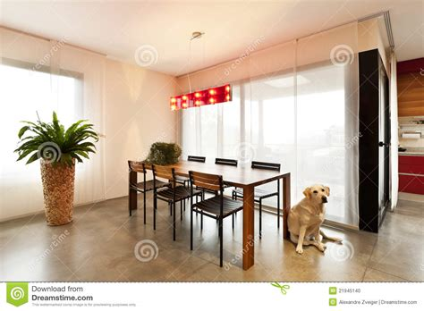 Dining Table Living Room Wooden Dining Table Living Room Stock Photo Image 21945140