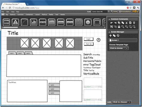 design builder application design desktop app and web ui prototypes with mockup builder