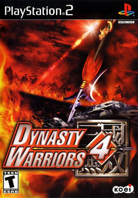 Warrior Ps2 Original dynasty warriors 4 2003 playstation 2 box cover mobygames