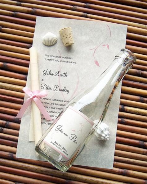 wedding invite message in a bottle message in a bottle signature wedding invitation sle