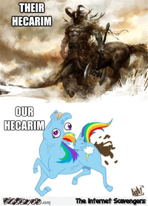 Lol Meme Images - their hecarim vs our hecarim