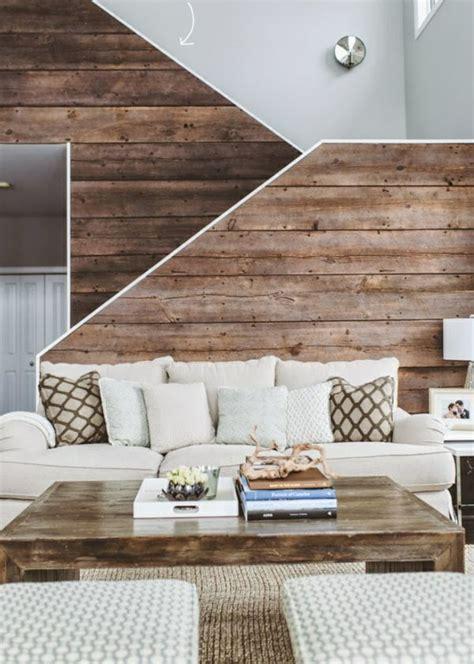 interior holz trim ideen moderne wanddeko aus holz im rustikalen stil
