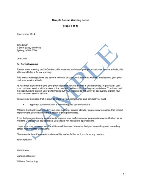 how to write disciplinary letter gallery letter format examples