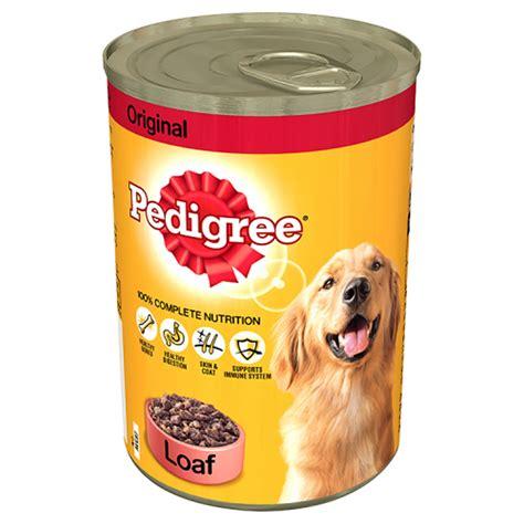 Makanan Anjing Pedigree Puppy 400 Gram pedigree tinned food original loaf 400g at wilko