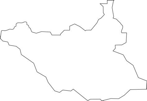 South Sudan Map Outline south sudan outline map