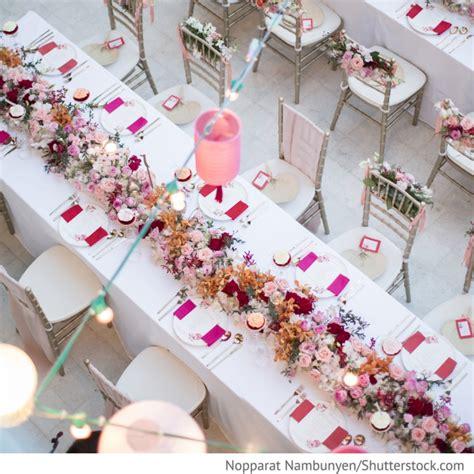 Blumendekoration Hochzeit by Blumendekoration In Pink Rosa Auf Hochzeitstischen