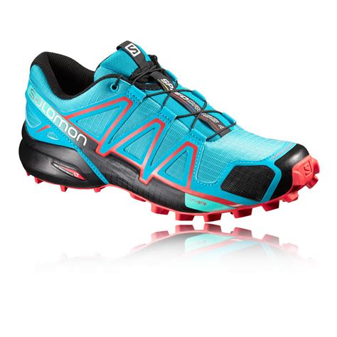 water resistant trail running shoes salomon speedcross 4 womens blue water resistant running