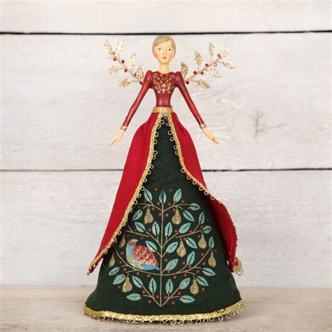 traditional christmas angel tree topper by red berry apple